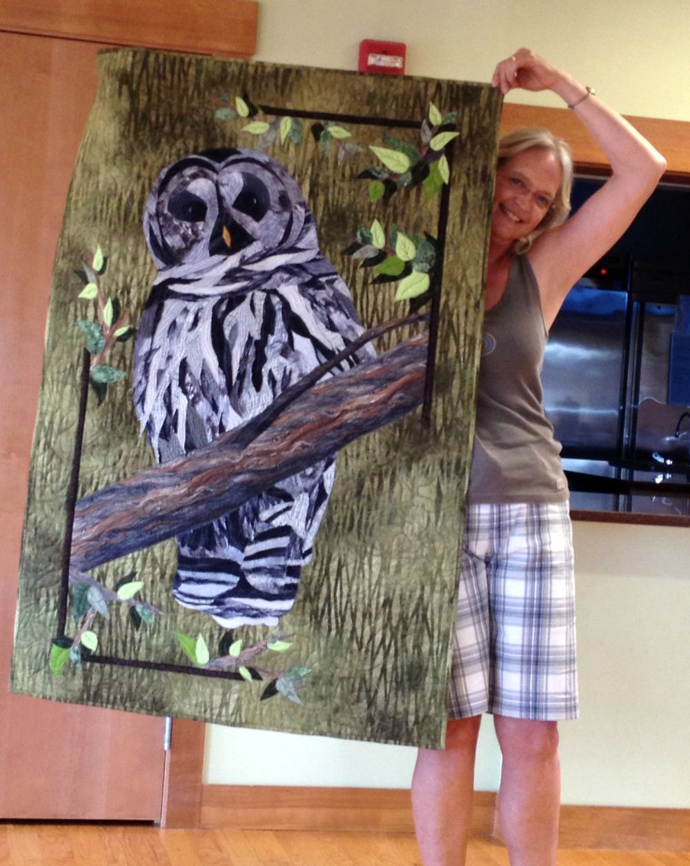 7-13 Jo's Owl started in Janet Fogg Class