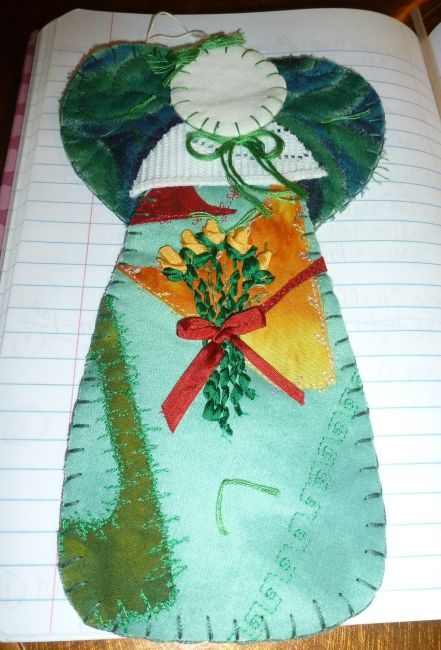 Sharon Walker-Ribbon Embroidery on Ornament