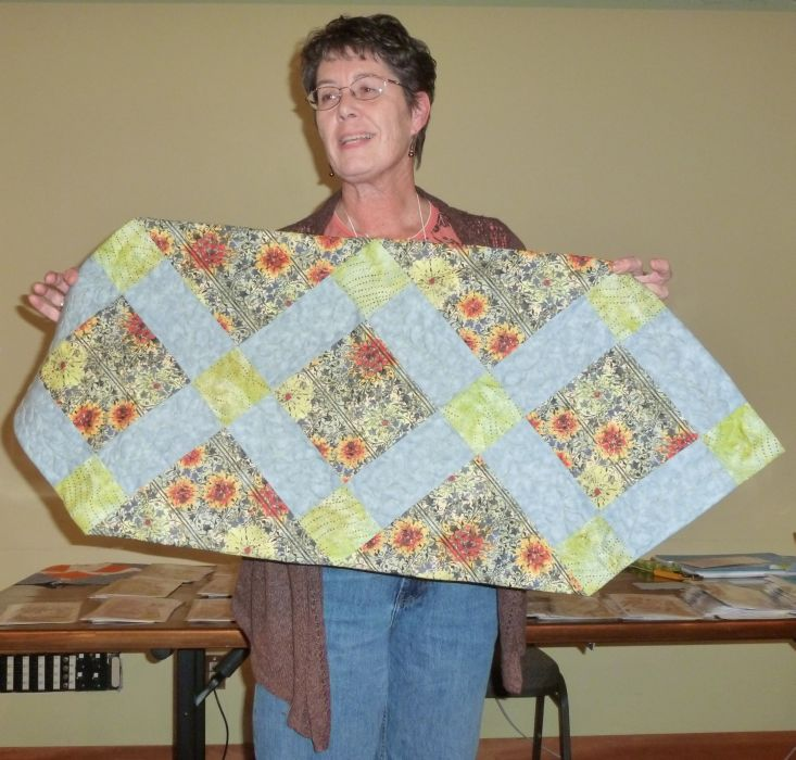 Jean M. Table Runner with Jason Yenter fabric