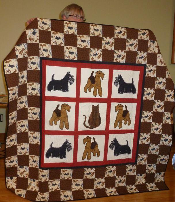 "Lynn ""Where's Bob?"" Bed Topper for her dogs"