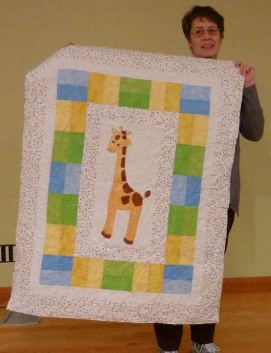 Jean M. Giraffe Baby Quilt