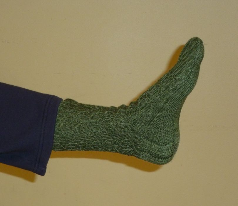 Socks - Designed and knit by Rommie's son