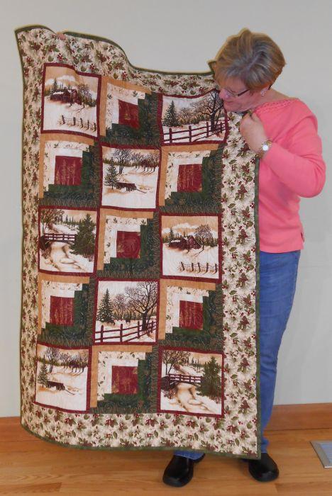 Nancy E. - Panel Christmas Quilt