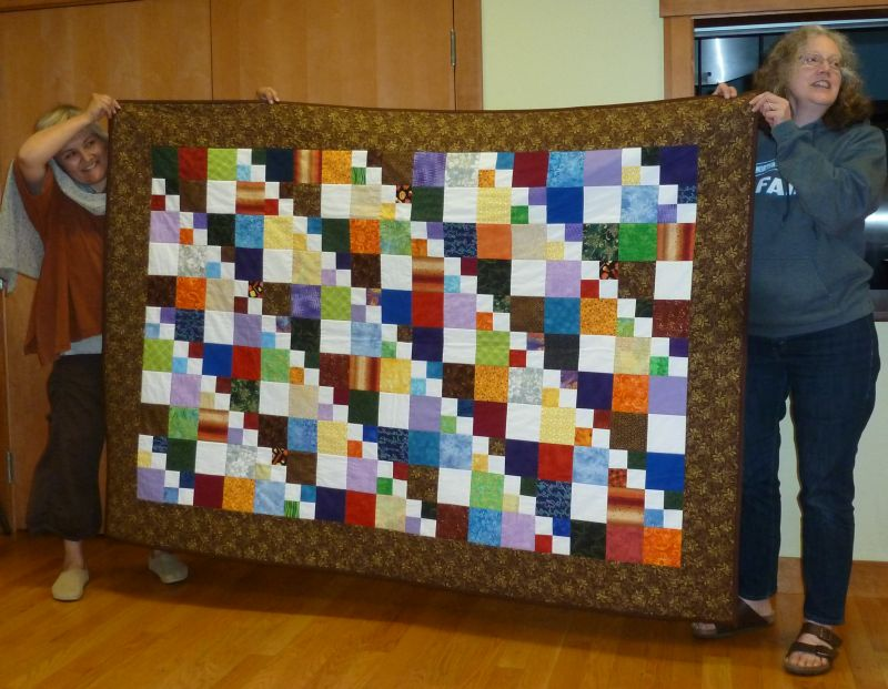 Karen M. - Confirmation Quilt with signature blocks
