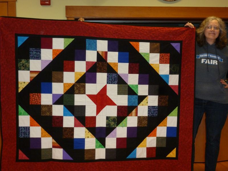Karen M. - Friendship Star center with signature blocks for a birthday party