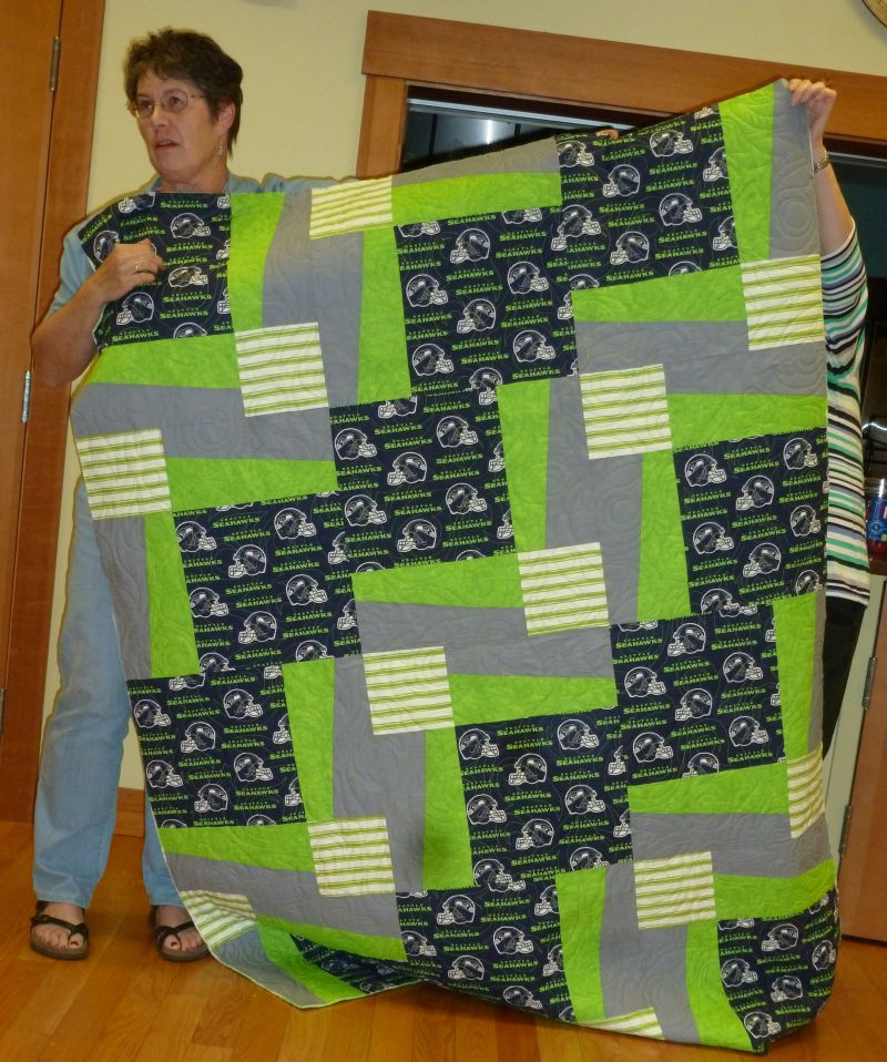 Jean M. - Julie's Seahawk Quilt, quilted by Jean