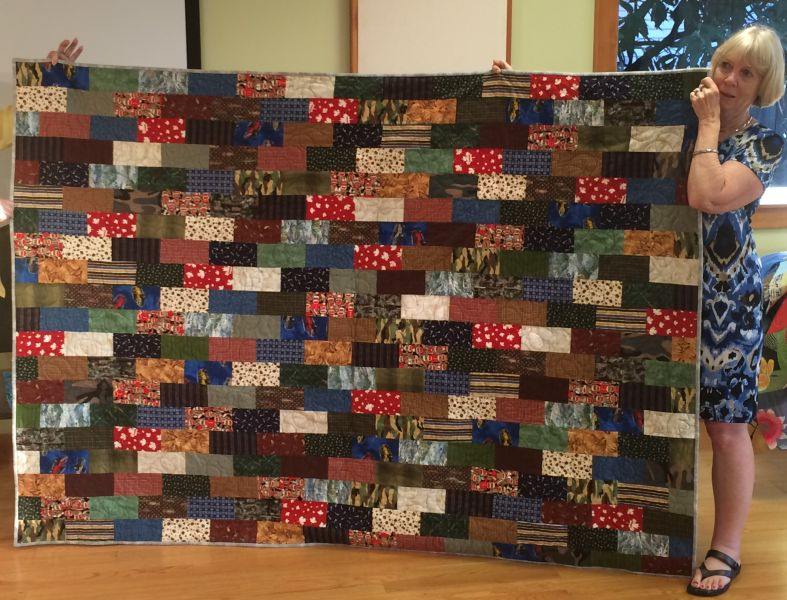 Linda S.-Tanner's Graduation Quilt-from all his pj pants