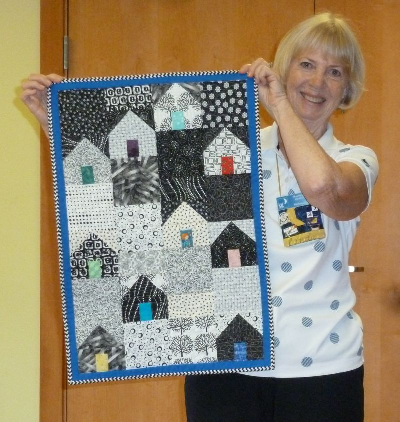 "Linda S. - ""Winter Houses"" door quilt for her mom"