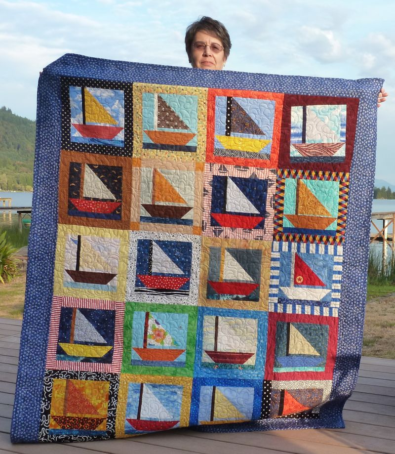 Jean - a boat quilt for sailing family members