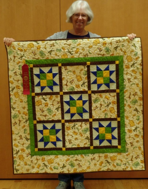 Linda F. - Grandson's quilt wins Red Ribbon