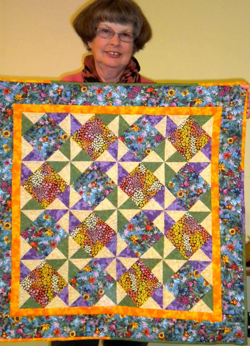 Linda C. - Quilt made from raffle fabric winnings