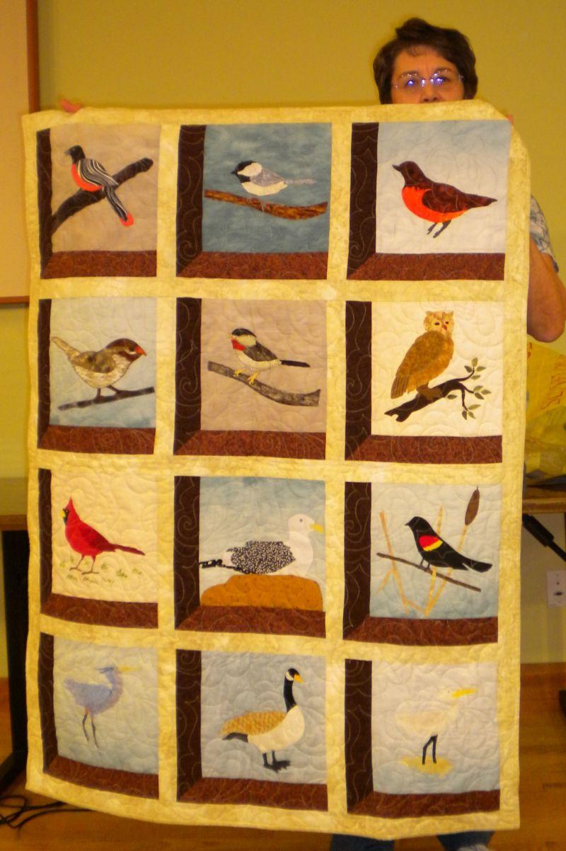 Jean M. -Attic Window Birds, blocks won on retreat
