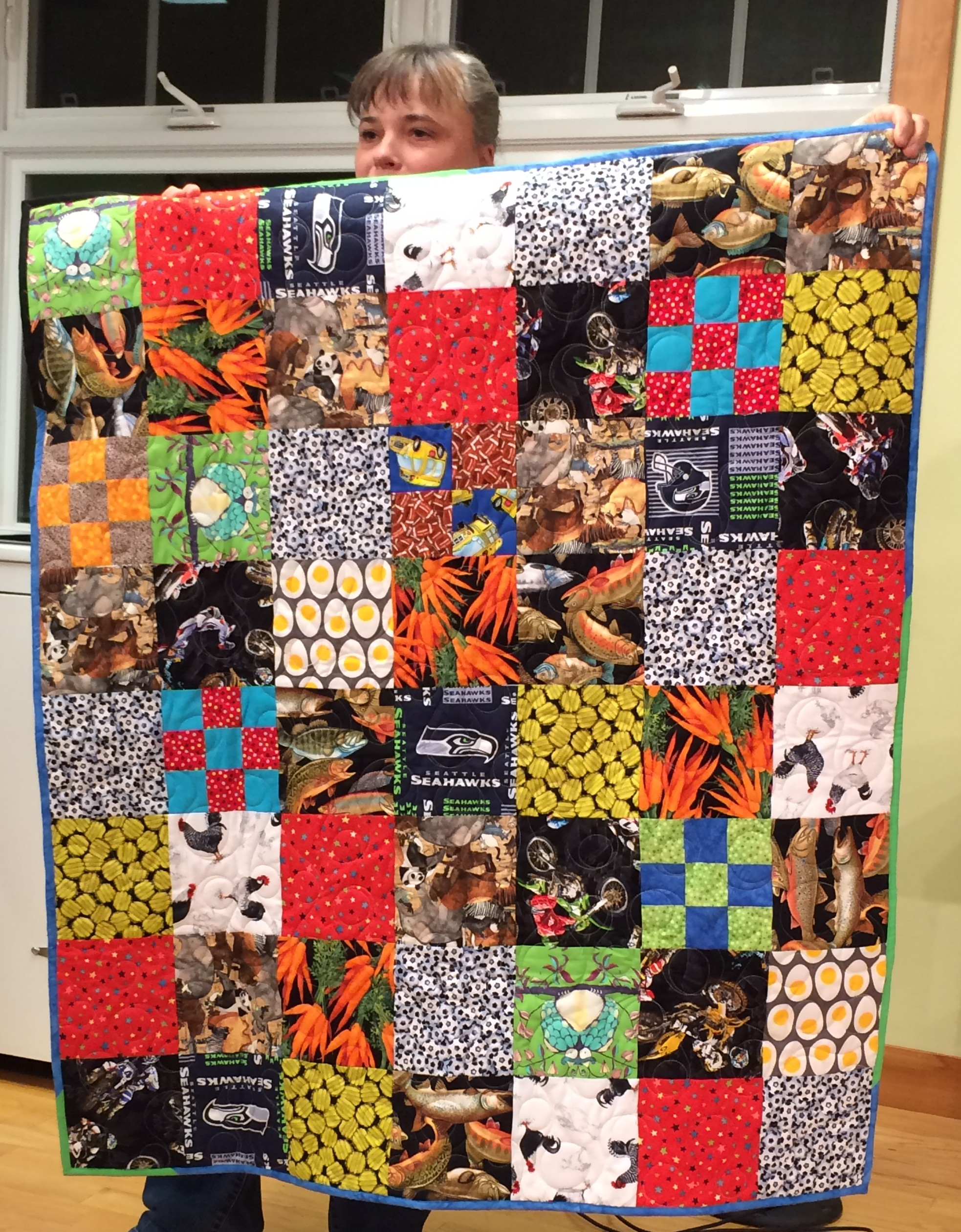 Nikki C. - I Spy quilt for a great nephew