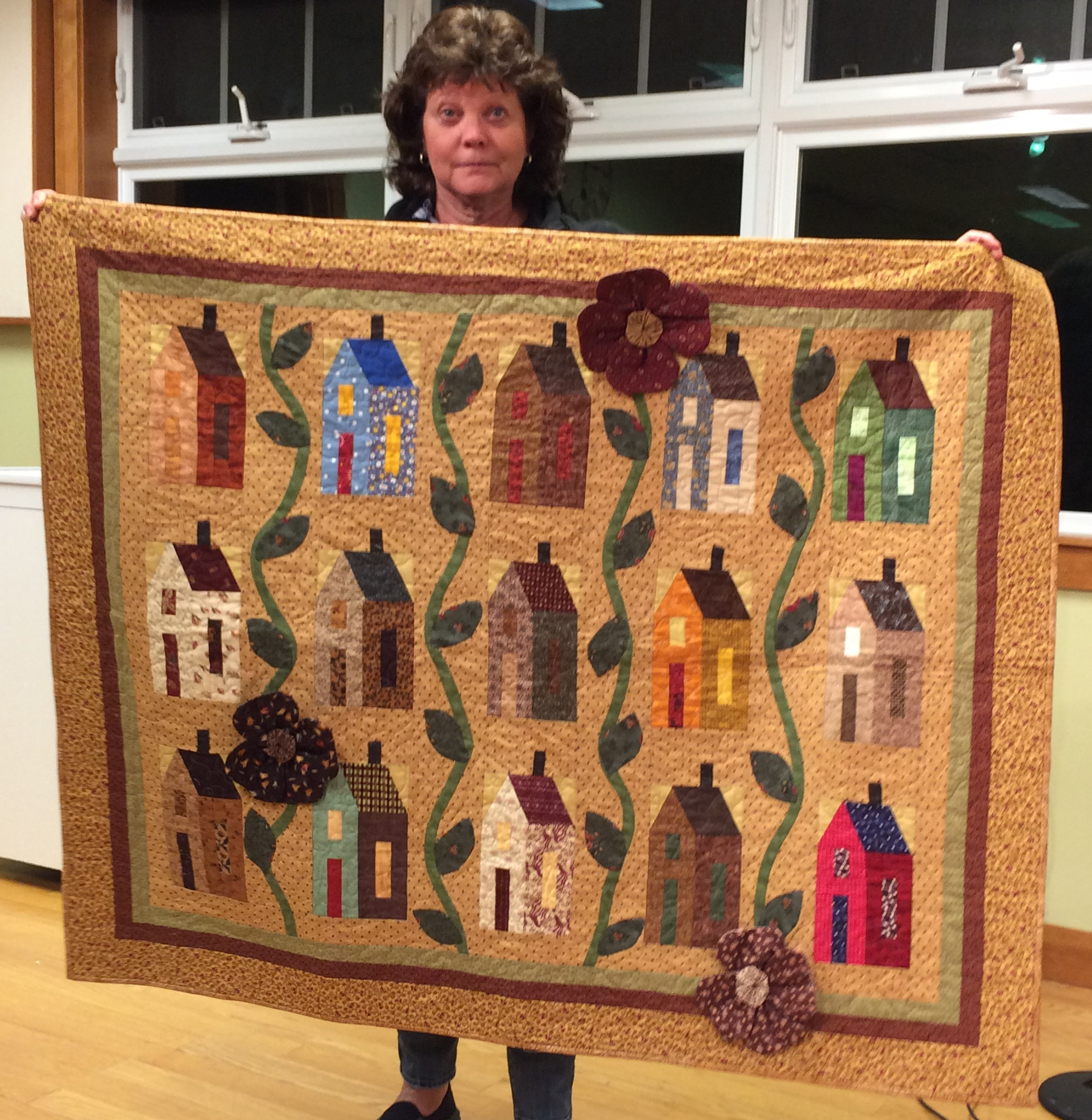 "Cindy A. - ""It Takes a Village"" friendship quilt"