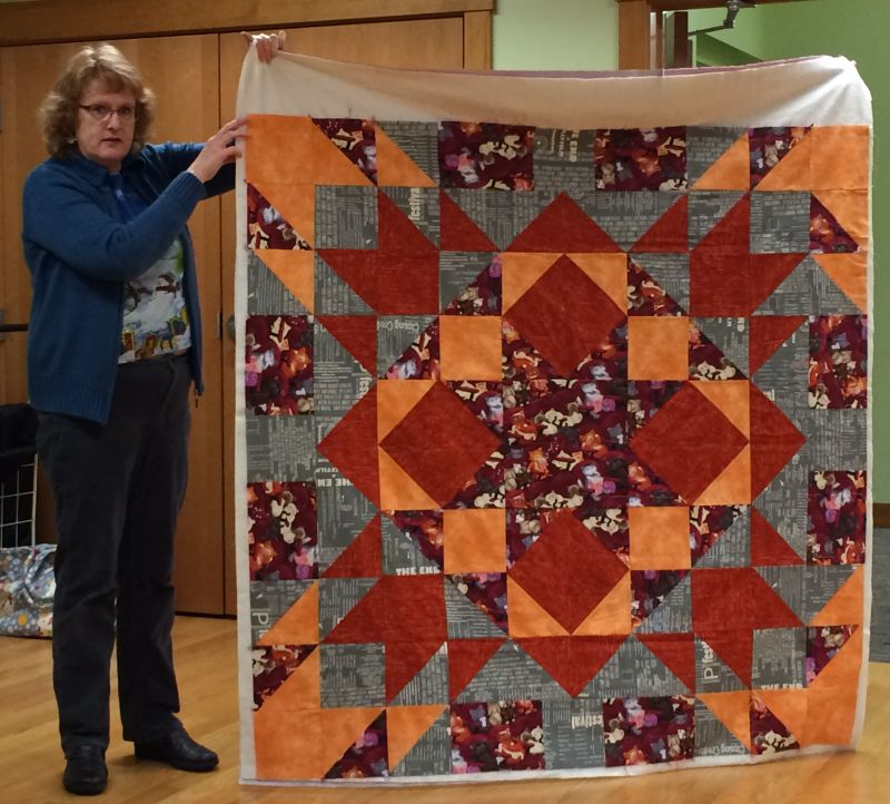 Kim helped a friend make her 1st quilt!