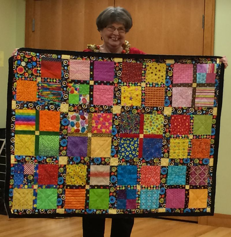 Linda C. made a busy quilt for a busy granddaughter!