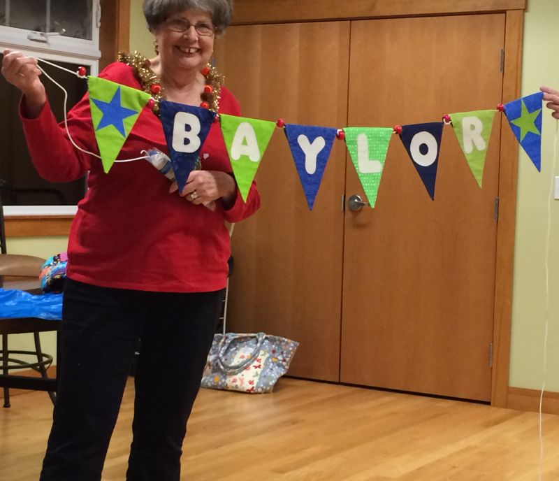 Linda C. started a set of alphabet banners with BAYLOR's name.