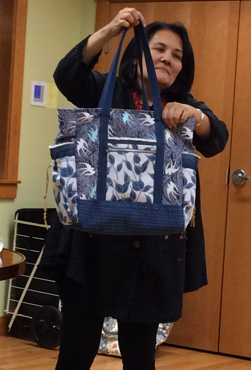 Guiliana made a wonderful tote bag for a friend who does so much for others.