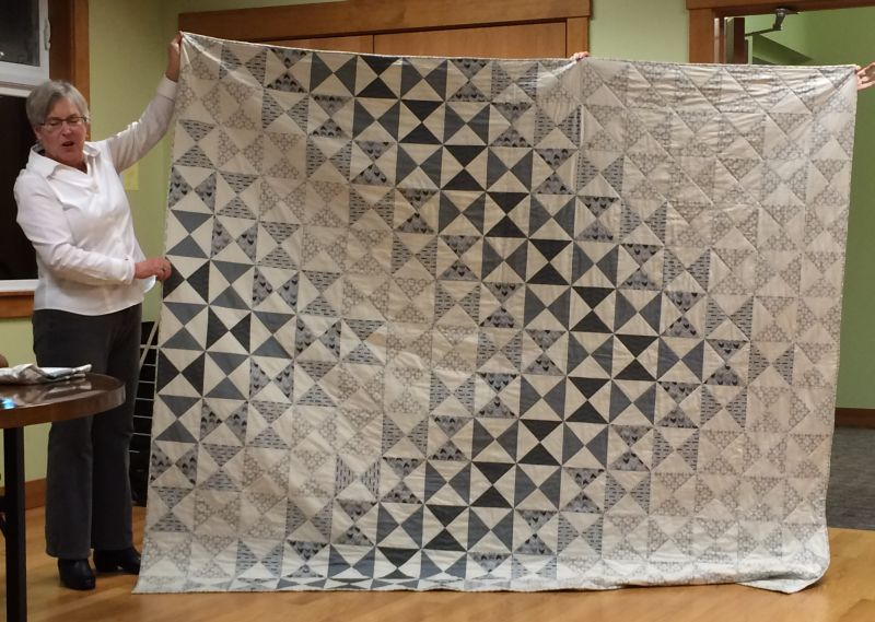 Lynn made the perfect quilt for her son's 40th birthday & his new condo.