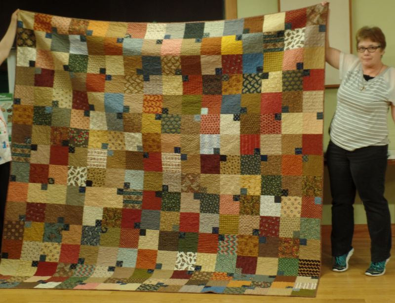Michele B shares the quilt she made with our friendship blocks