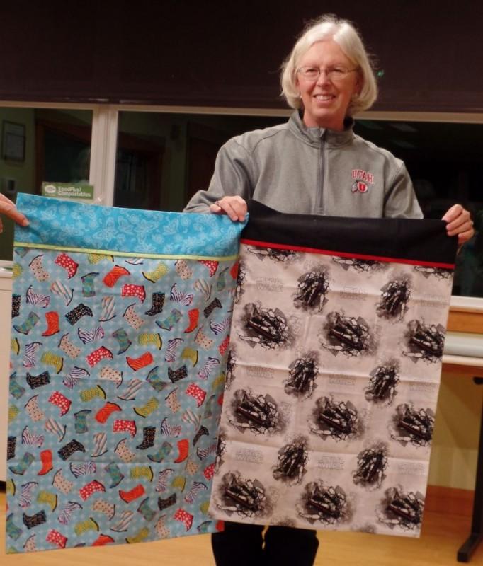 Linda F. made two pillowcases for grandchildren