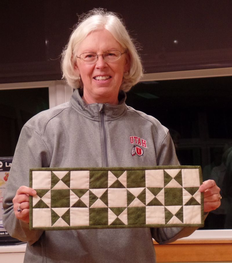 Linda F tested out the Christmas Block pattern