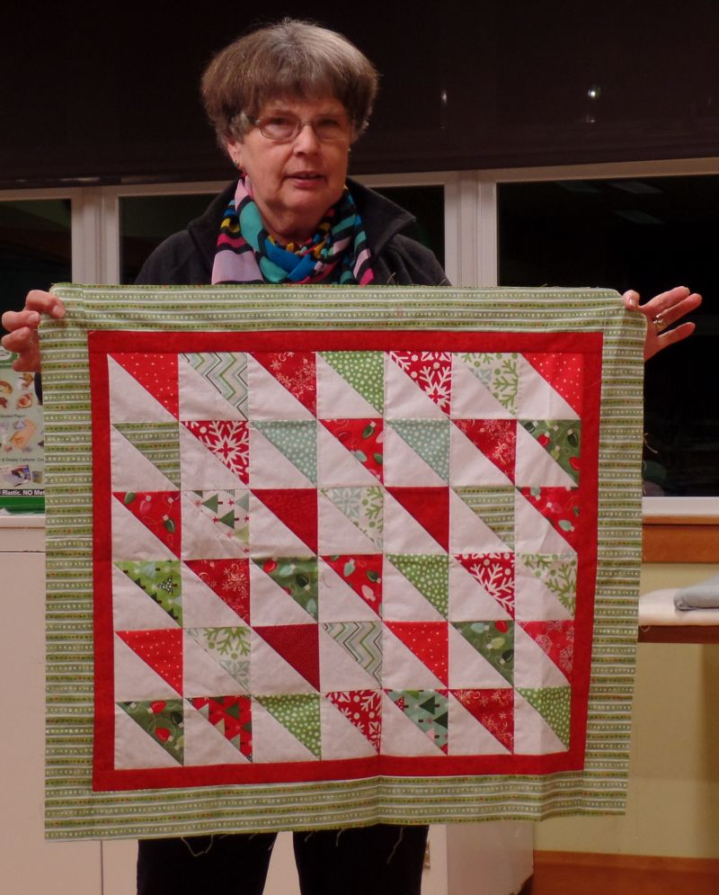 Linda C. completed this top on retreat.