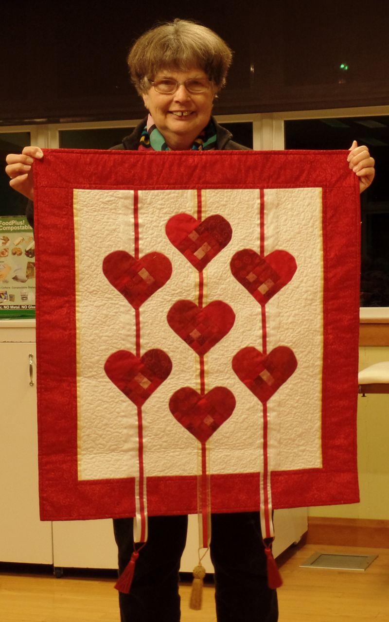 Linda C. completed this Valentine quilt