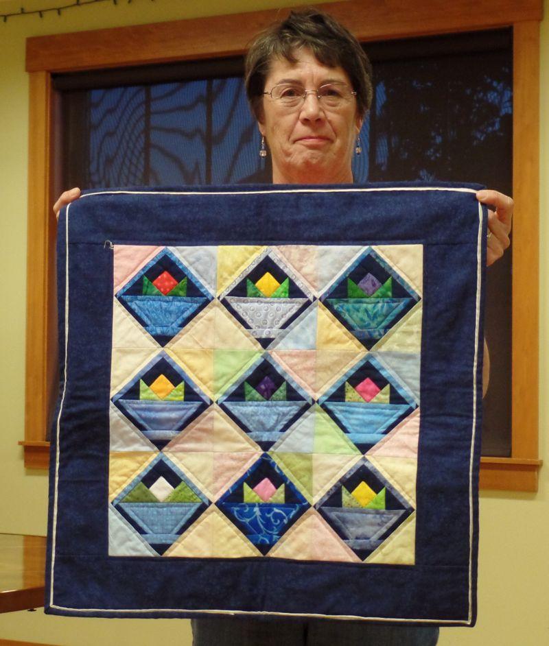 Jean M. - Mini quilt becomes bigger!
