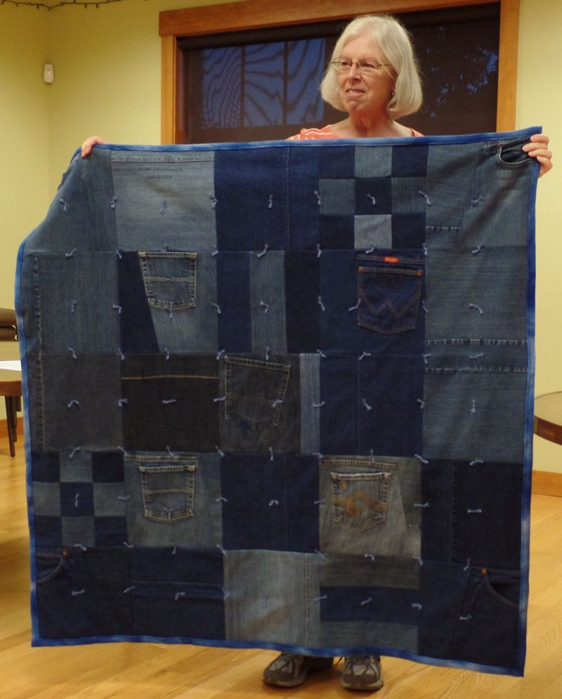 Linda F. - A jeans quilt for a grandchild