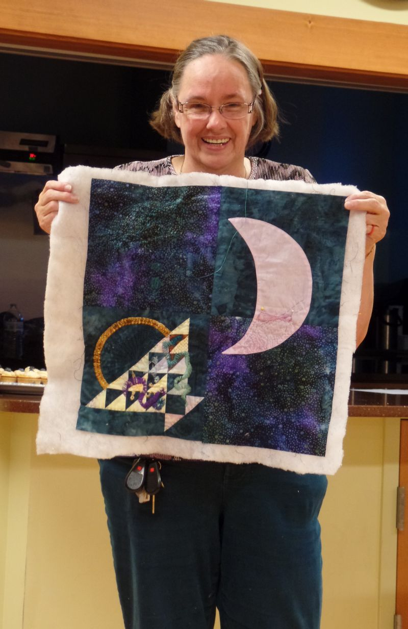 Donna C. - with Challenge Quilt that didn't get finished