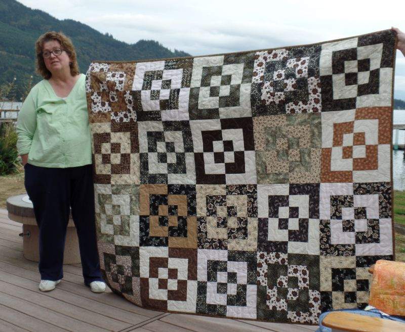 Judy with Bento Box Quilt