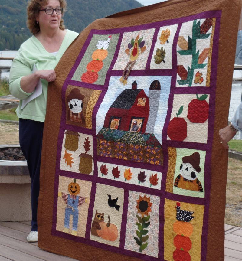 Judy completes her fun Autumn quilt
