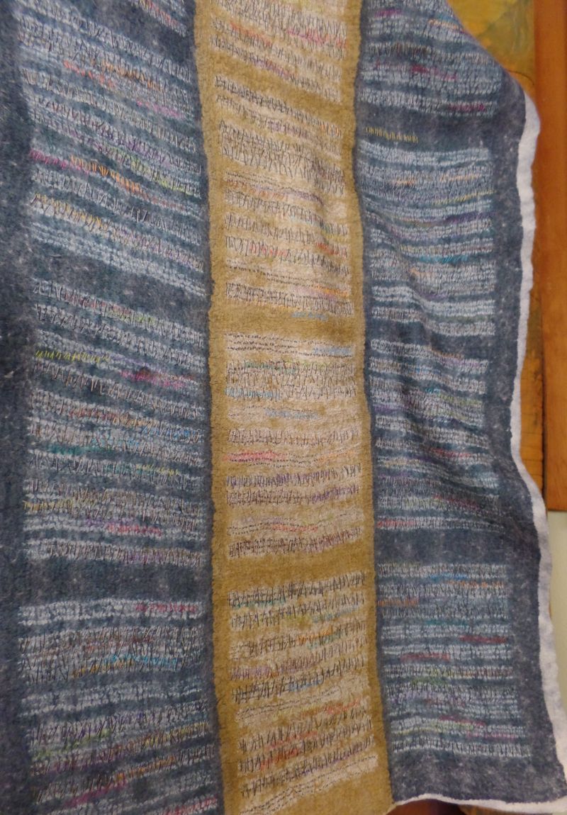 Shibori sample by Liz Axford