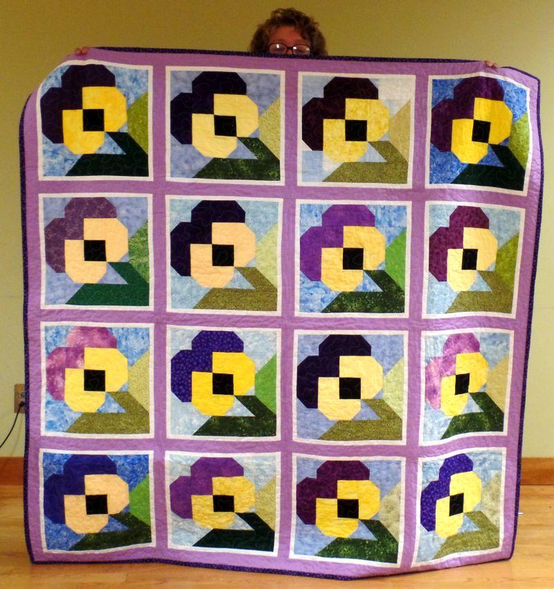 Judy J - Bold Pansies, pattern by Billie Lauder