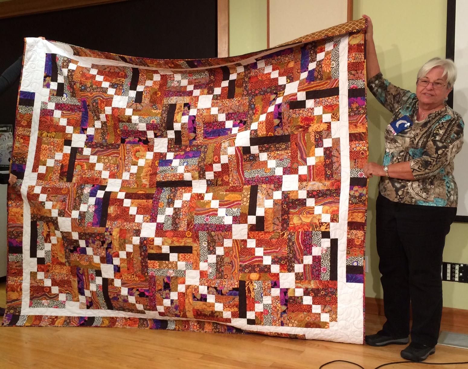Juanita C. - Sticks and Stones using Kaffe Fassett fabrics