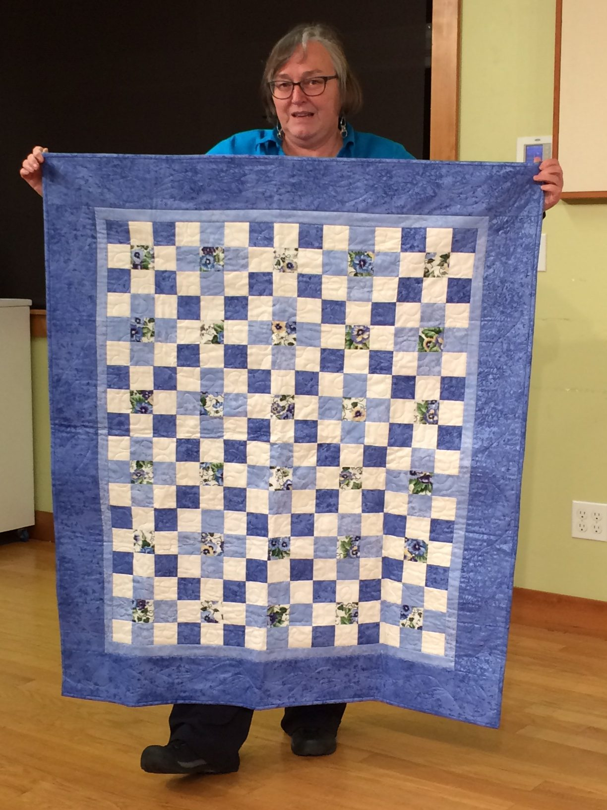 Val L. - Quilt to be donated utilizing fabrics from Margaret A.'s stash
