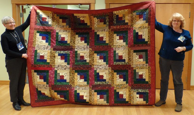 Kim C. W. made this cabin quilt for her husband.