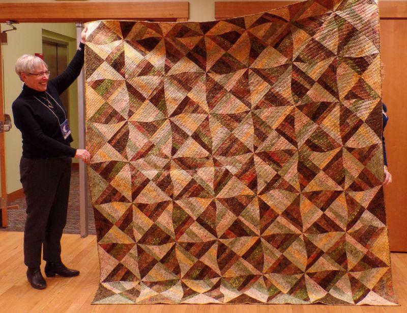 Lynn, finished quilt from Karla Alexander workshop.