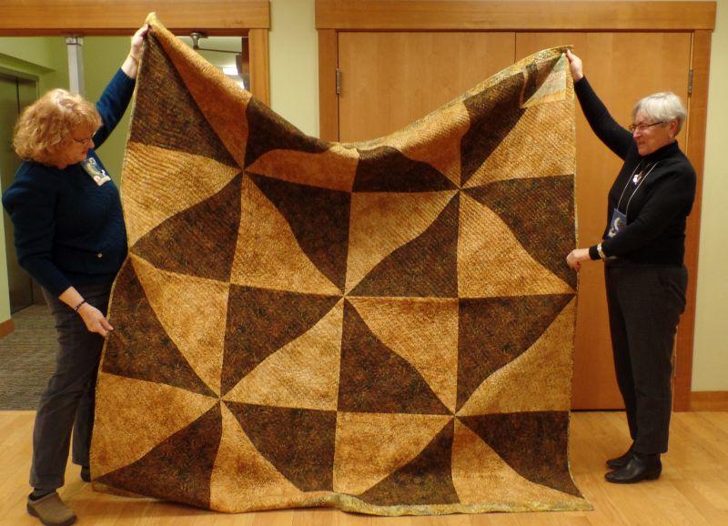 Lynn M. Super-sized blocks for her quilt back!