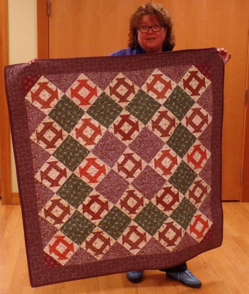 Judy J. Pieced lap quilt completed!