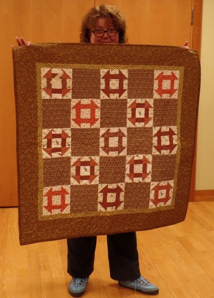 Judy J. pieced lap quilt
