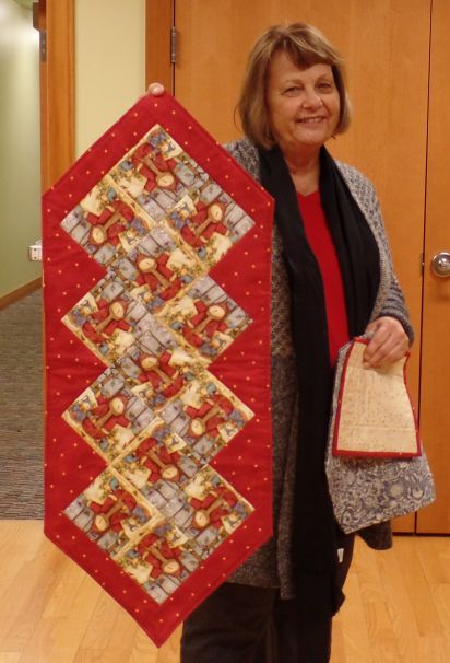 Suzanne T. Winter table runner
