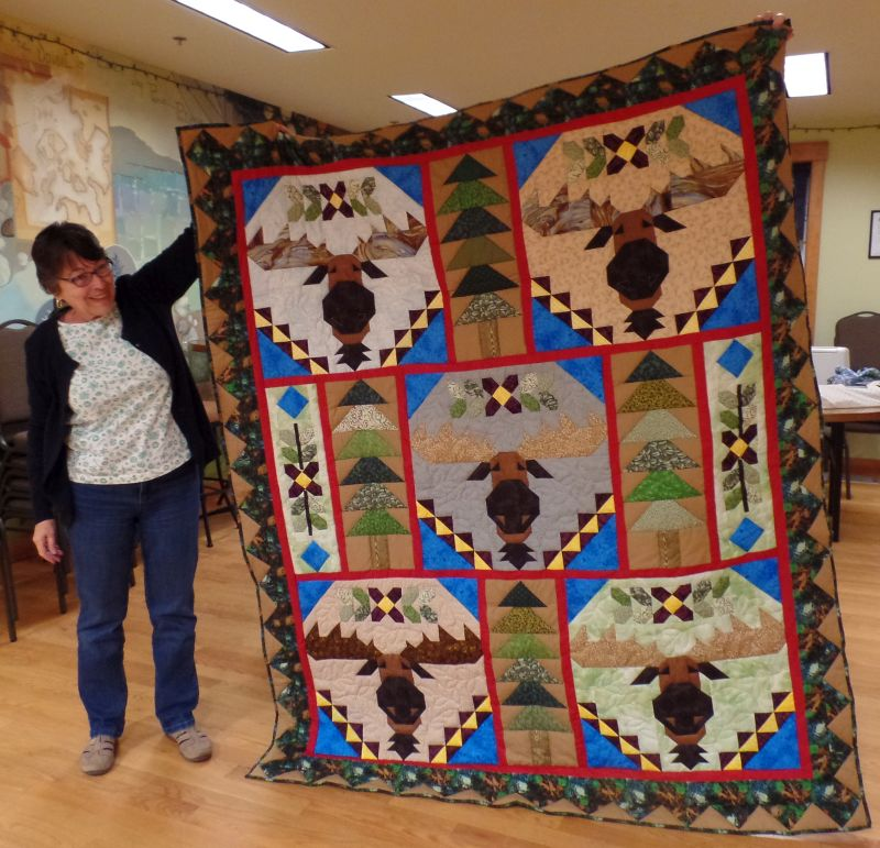 Judy K shares her Moose Quilt.
