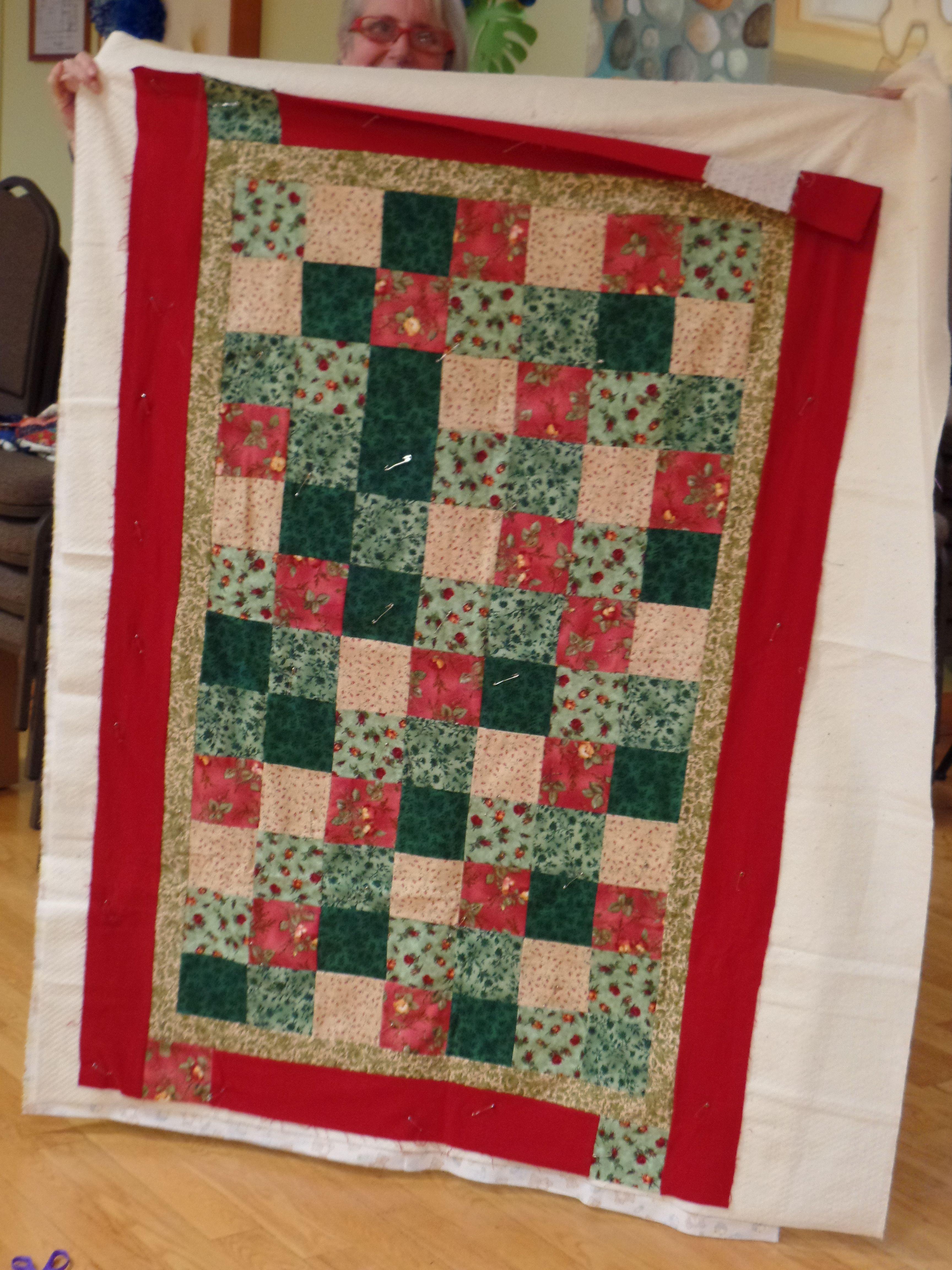 Claudia E. shared her scrap block quilt.