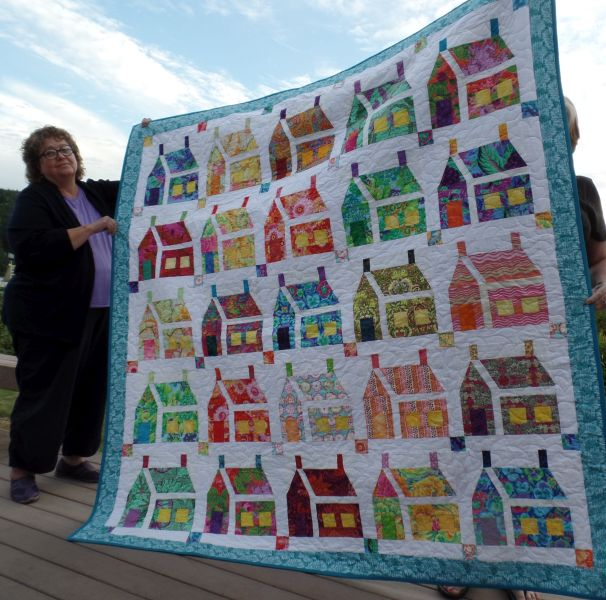 Judy J. - Big Print Houses, Friendship Quilt