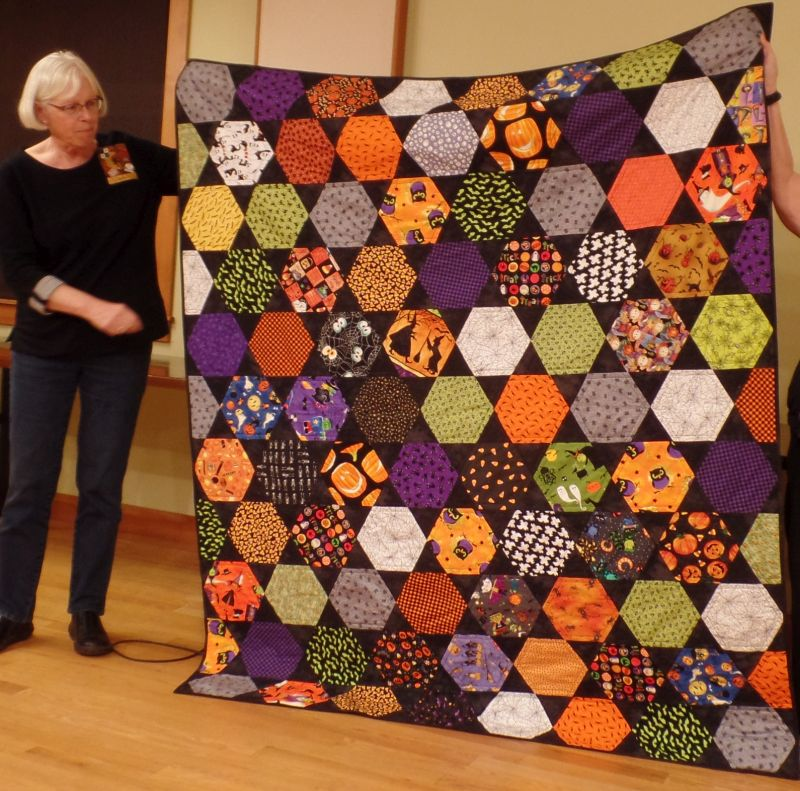 "Linda F-""Halloween"" quilt for grandchildren in Utah"
