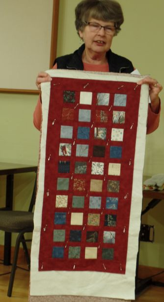 Linda C. - Table Runner w/squares from friend