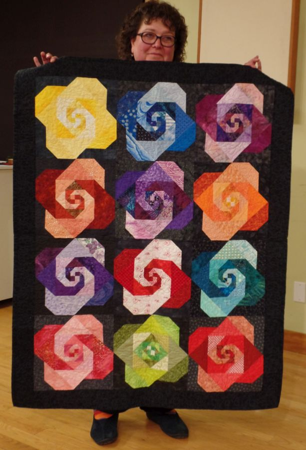 Snails Trail Roses by Judy J. friendship blocks